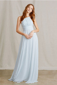 Halter Long Chiffon Bridesmaid Dresses