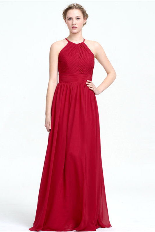 Simple Red Bridesmaid Dresses