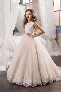 Ball Gown Sleeveless Flower Girl Dresses