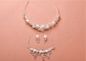 Floral Bridal 3-Piece Jewelry Set