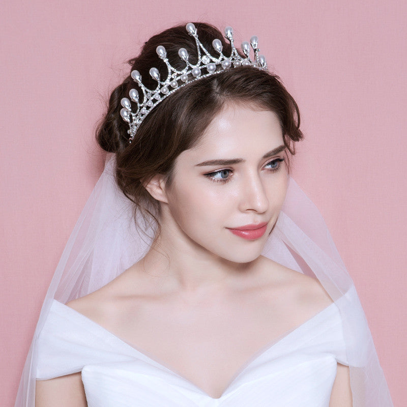 Pearls Tiara Bridal Headpiece