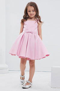 Knee-Length Satin Flower Girl Dresses