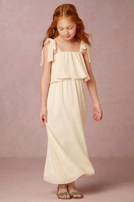 Chiffon Sleeveless Two-Piece Flower Girl Dresses