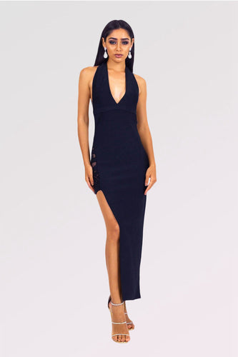 Side Slit Backless Formal Dresses