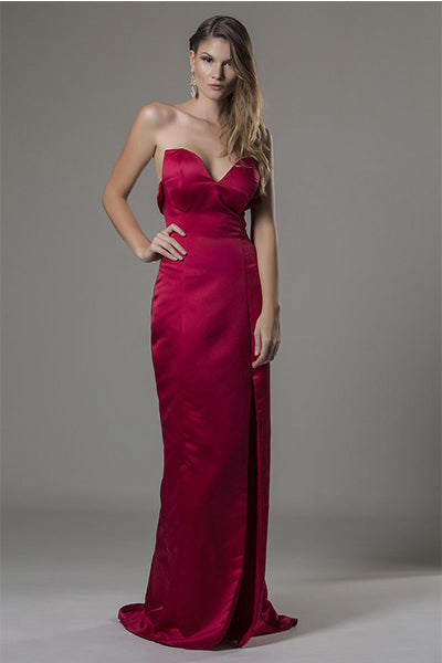Strapless Split Long Formal Prom Evening Dresses