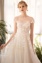 Embroidered Organza Wedding Dresses with Applique