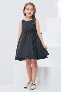 A-Line Sleeveless Knee-Length Flower Girl Dresses with Bow