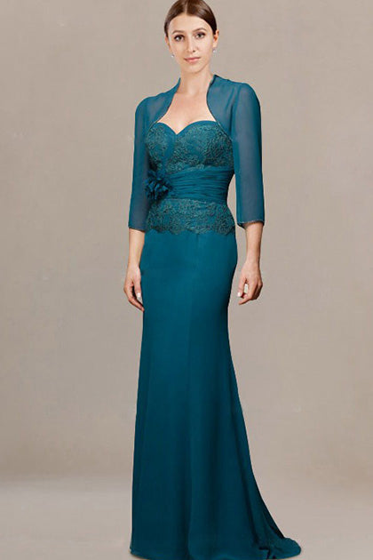 Elegant Sweetheart Mother of the Bride Dresses (Bolero included)