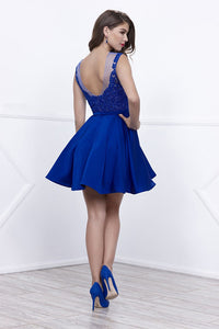 A-Line Sleeveless Short Homecoming Dresses
