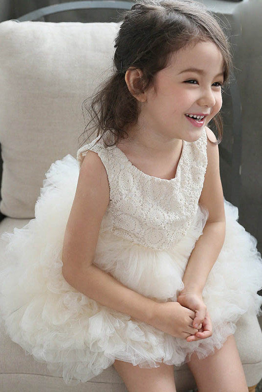 Tulle Layers Ball Gown Flower Girl Dresses