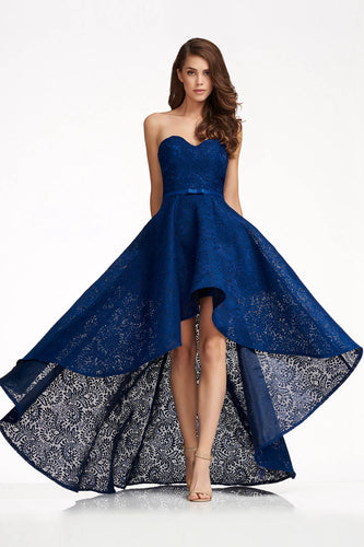Sweetheart Lace High-low Homecoming Dresses