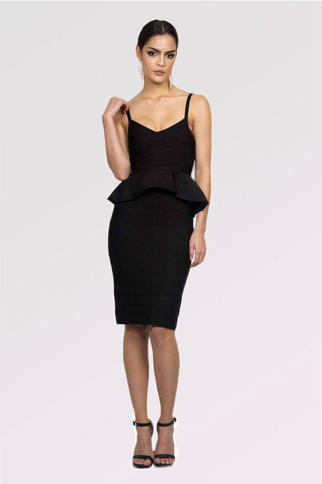Two-Piece Knee-Length Cocktail Dress