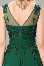Sleeveless Prom Formal Dresses with Applique