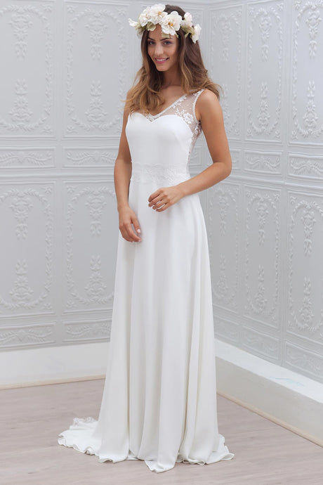 Beach Sleeveless Wedding Dresses