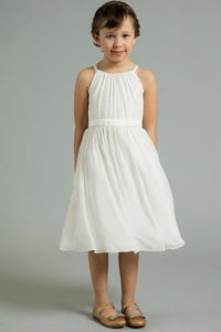Sleeveless Chiffon Flower Girl Dresses