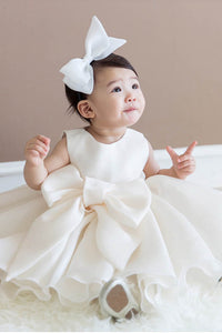 Cute Satin Toddler Flower Girl Dresses With Big Bow