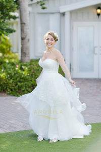 A-Line/Princess Sweetheart Wedding Dresses with Layers