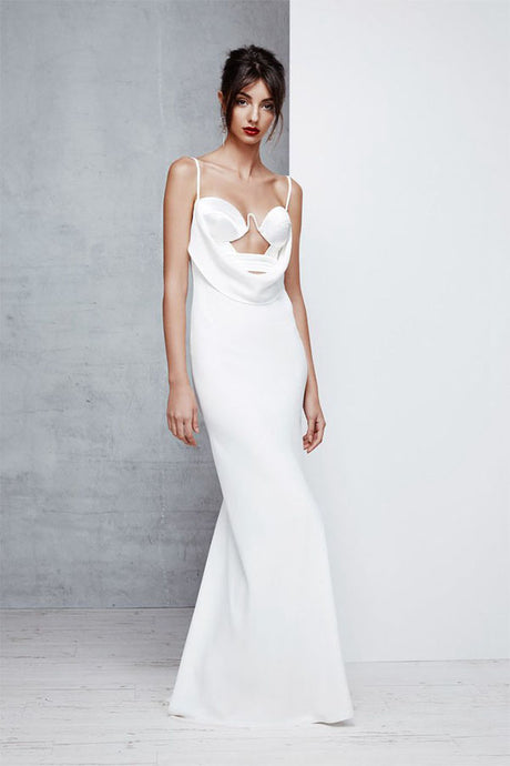 Sexy White Floor-Length Sheath Prom Dresses