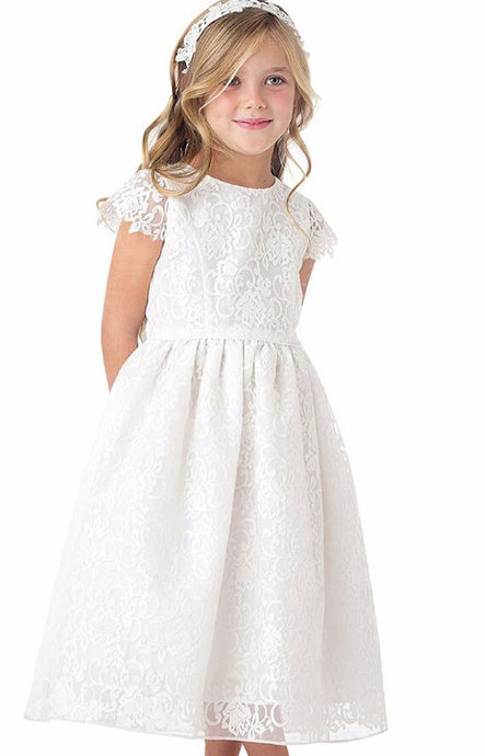 Ball-Gown/Princess Tea-length Flower Girl Dress