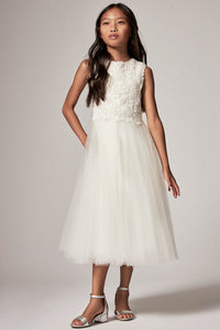 Simple Sleeveless Floral Flower Girl Dresses
