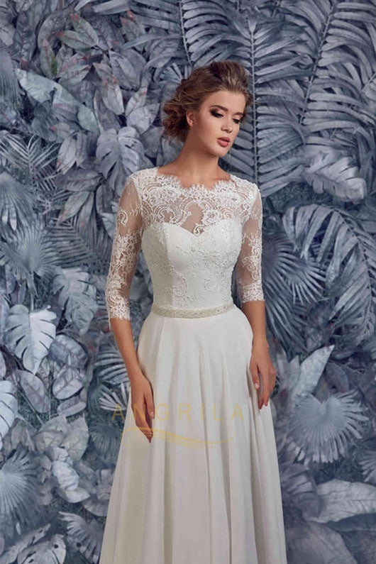 655a335f81 ... Junoesque A-line Lace & Chiffon Wedding Dresses with Rhinestones and  Beads ...