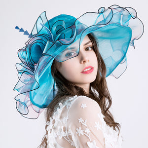 2019 New Organza Ladies Sunbonnet