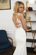 Sexy Mermaid Lace Bodice Satin Wedding Dresses