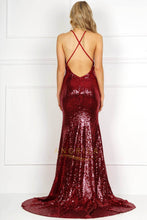 Sexy Trumpet/Mermaid Sequined Open Back Prom Dresses
