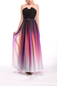 Ombre Chiffon Long Prom Dress Bridesmaid Dresses