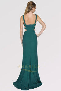Sexy Trumpet/Mermaid V-Neck Sleeveless Long Formal Prom Dresses