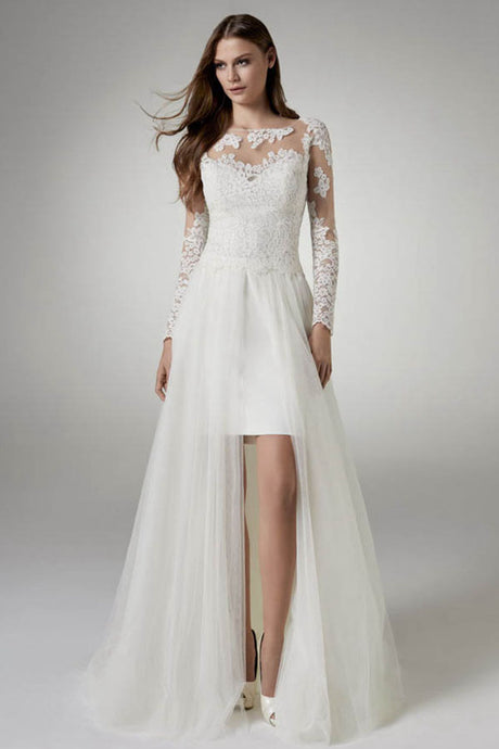 Unique A-line/Princess Tulle & Lace Wedding Dresses
