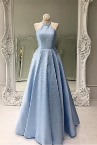 Halter High Neck Floor-length beading Prom/Evening Dresses