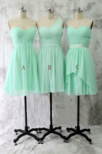 A-line Sweetheart One-shoulder Chiffon Bridesmaid Dresses