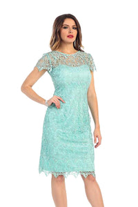 Short Lace Mother Of The Bride Dress