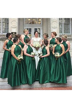 Simple Long Bridesmaid Dress Plus Size Dresses with Halter