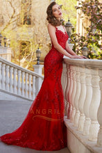Trumpet/Mermaid Scoop Neck Court Train Long Prom Dress with Sequins