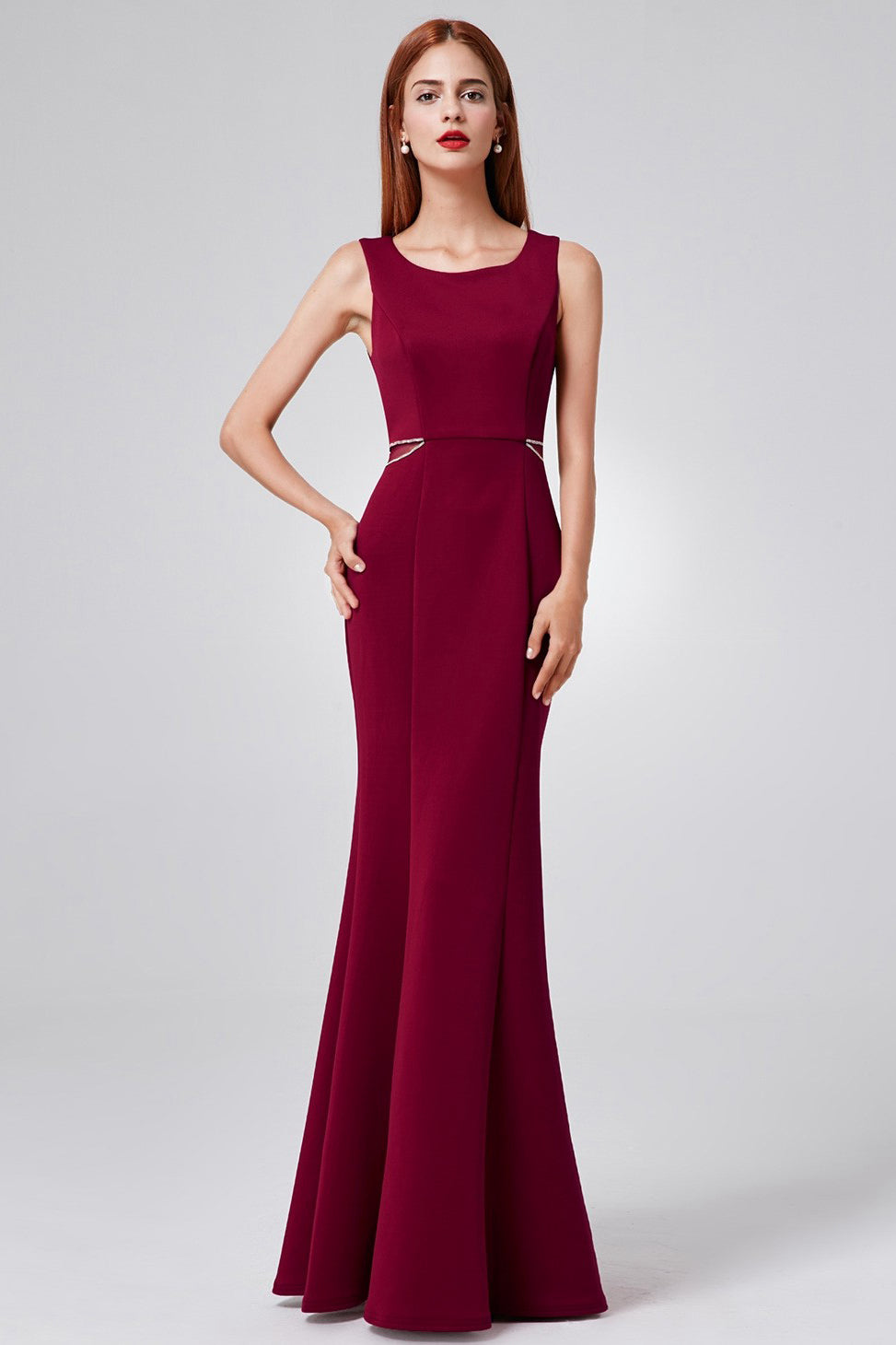 Sheath/Column Scoop Neck Sexy Evening Dress