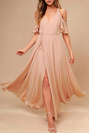 Chiffon Off-the-Shoulder Bridesmaid Dresses