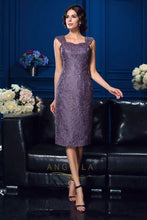 Two Piece Sheath/Column Sweetheart Knee Length Lace Mother of the Bride Dress