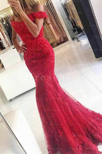 Trumpet/Mermaid Off-the-Shoulder Sweep Train Chiffon Dress With Sequins
