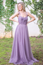 Chic Tulle Bridesmaid Dresses with Sheer Illusion Sleeves