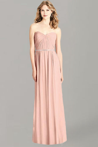 Sheath/Column Sweetheart Chiffon Bridesmaid Dress with Ruffle