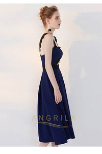 A-Line/Princess Tea Length Elegant Homecoming Dresses with Lace