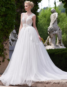 Sleeveless Applique Bridal Wedding Dresses