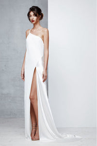 Sheath/Column One-Shoulder Sexy Prom Dress with Split Front
