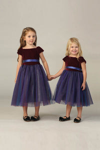 Scoop Neck Toddler Flower Girl Dress with Bow(s) Sash