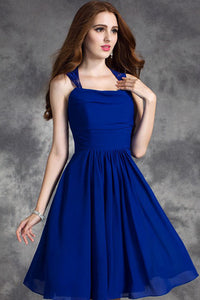 A-Line/Princess Halter Chiffon Short Bridesmaid Dress