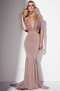 Trumpet/Mermaid Off-the-Shoulder Sweep Train Sexy Prom Dress with Ruffle