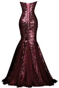 Mermaid Sweetheart Sequin Prom Evening Dress