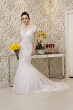Trumpet/Mermaid V-Neck Cap Sleeves Wedding Dresses